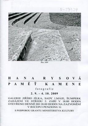 Hana Rysová: Paměť kamene
