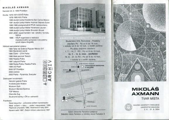 Mikoláš Axmann: Tvar místa
