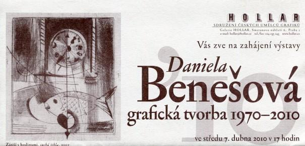 Daniela Benešová: Grafická tvorba 1970 - 2010