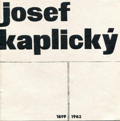 Josef Kaplický: Výběr z životního díla