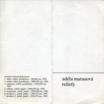 Adéla Matasová: Reliefy