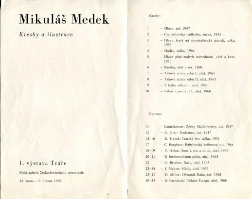 Mikuláš Medek: Kresby a ilustrace