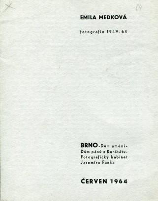 Emila Medková: Fotografie 1949 - 64