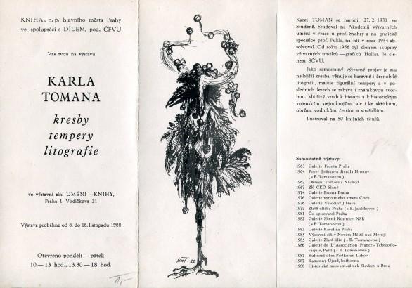 Karel Toman: Kresby, tempery, litografie