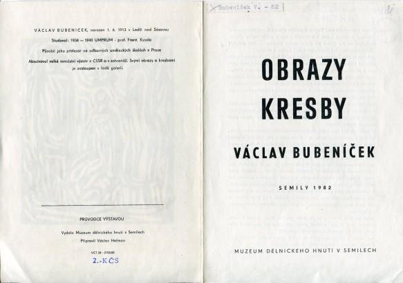 Václav Bubeníček: Obrazy, kresby