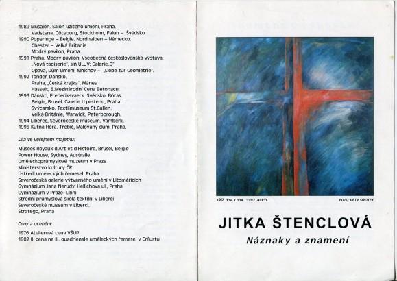 Jitka Štenclová: Náznaky a znamení