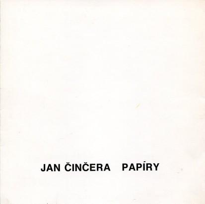 Jan Činčera: Papíry