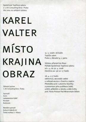 Karel Valter: Místo, krajina, obraz