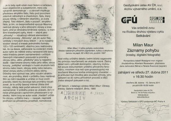 Milan Maur: Záznamy pohybu (kresby, digitální fotografie)