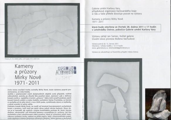 Kameny a průzory Mirky Nové 1971-2011