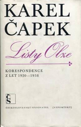 Čapek, Karel - Listy Olze