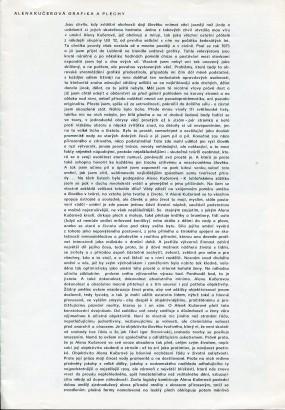 Alena Kučerová: Grafika a plechy
