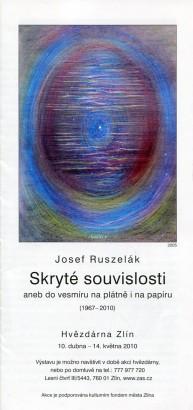 Josef Ruszelák: Skryté souvislosti aneb do vesmíru na plátně i na papíru