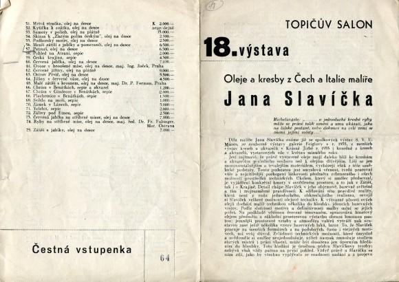 Oleje a kresby z Čech a Italie malíře Jana Slavíčka