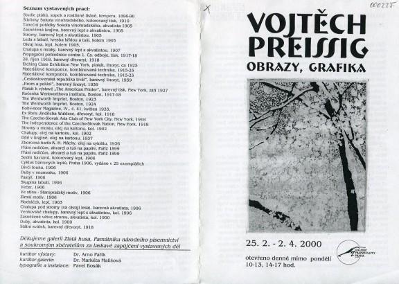 Vojtěch Preissig: Obrazy, grafika