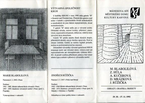 M. Blabolilová, Z. Hůla, A. Kučerová, D. Mrázková, J. Růžička