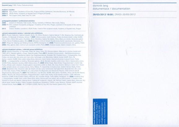 Dominik Lang: Dokumentace / Documentation