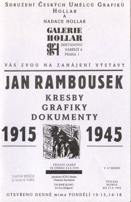 Jan Rambousek: Kresby, grafiky, dokumenty 1915 - 1945
