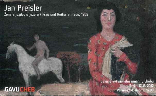 Jan Preisler: Žena a jezdec u jezera / Frau und Reiter am See, 1905