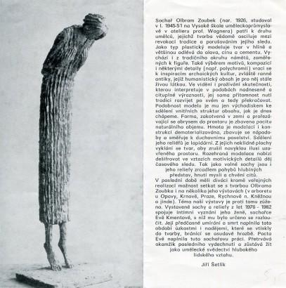 Olbram Zoubek: Sochy a reliéfy