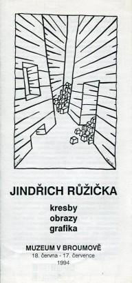 Jindřich Růžička: Kresby, obrazy, grafika