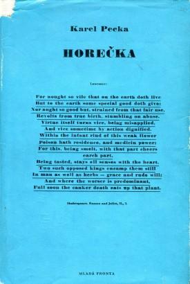 Pecka, Karel - Horečka