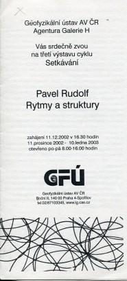 Pavel Rudolf: Rytmy a struktury