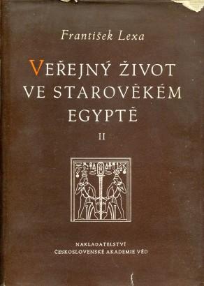 Lexa, František - Veřejný život ve starověkém Egyptě