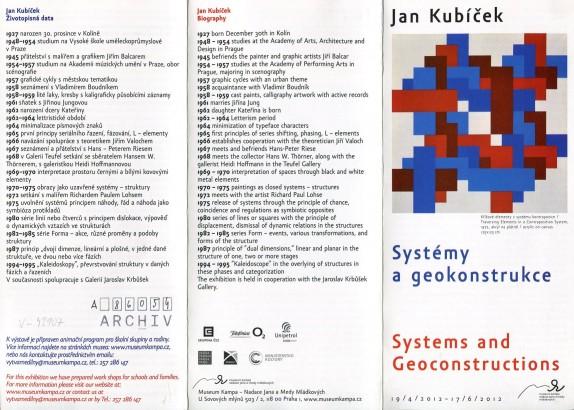 Jan Kubíček: Systémy a geokonstrukce / Systems and Geoconstructions