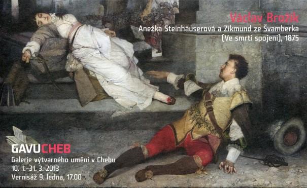 Václav Brožík: Anežka Steinhäuserová a Zikmund ze Švamberka (Ve smrti spojeni), 1875