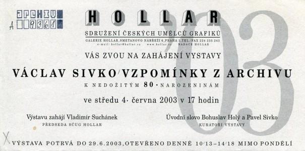 Václav Sivko: Vzpomínky z archivu