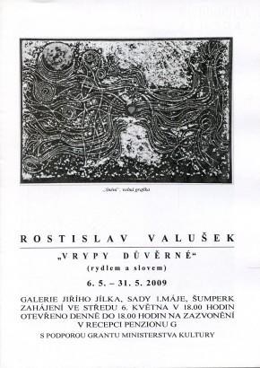 Rostislav Valušek: Vrypy důvěrné (rydlem a slovem)