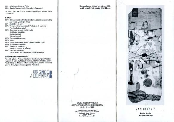 Jan Steklík: Koláže, kresby, dokumentace akcí